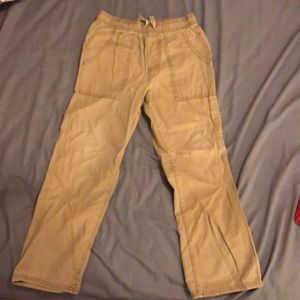 Old navy pull on straight khaki pant size Med